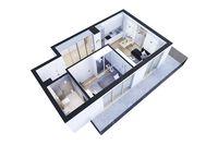 Apartamenty Poligonowa:  wizualizacja mieszkania