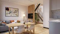 Apartamenty Poligonowa: mieszkanie dwupoziomowe