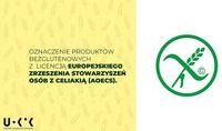 Oznaczenie produktów bezglutenowych z licencją AOECS