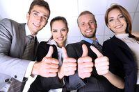 Pracownicy w dobrych nastrojach