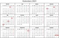 Kalendarz świąt w Niemczech 2021