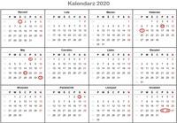 Kalendarz świąt w Niemczech 2020