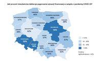 Jaki procent mieszkańców deklaruje pogorszenie sytuacji finansowej w zw. z pandemią?
