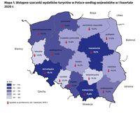 Wstępne szacunki wydatków turystów w Polsce według województw w I kwartale 2020 r.