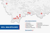 Województwo małopolskie - najczęściej odwiedzane lokalizacje