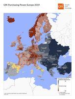 Siła nabywcza w Europie 2019